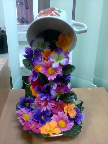 Поделка водопад из цветов своими руками 25